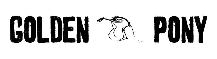 golden 0 pony  Free Fonts Download
