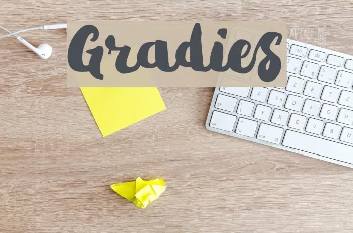 Gradies Шрифта examples