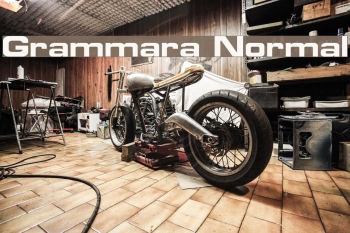 Grammara Normal Font examples