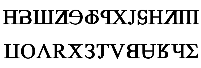 Grand Alphabet Times New Roman Font UPPERCASE