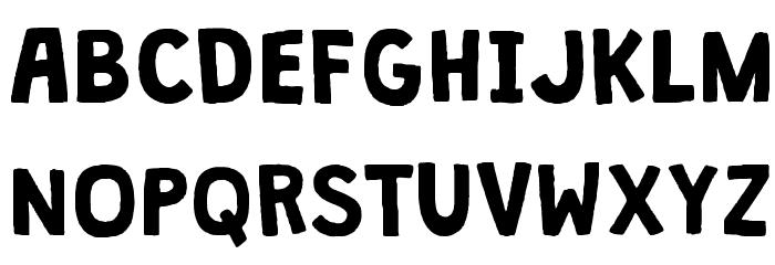 Granstander Clean Font UPPERCASE