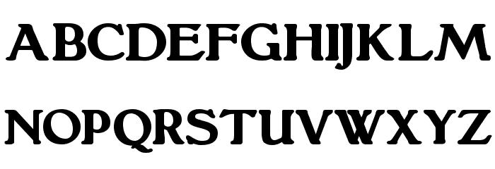 Grantham Bold Font UPPERCASE