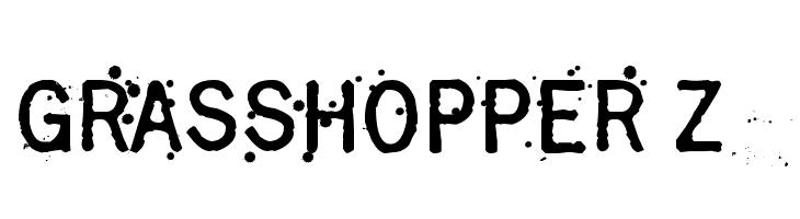 Grasshopper Z  Скачать бесплатные шрифты