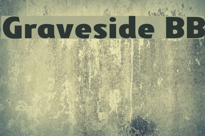 Graveside BB Font examples