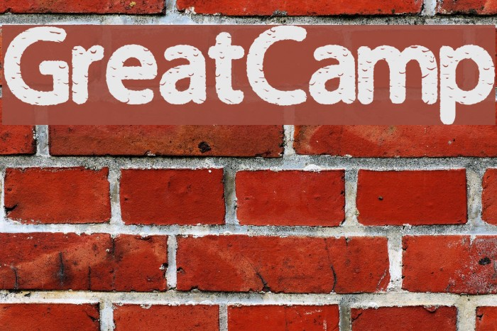 GreatCamp Шрифта examples