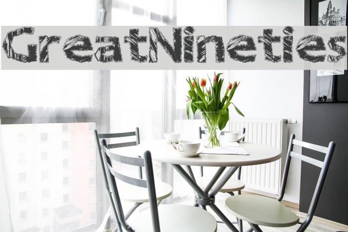 GreatNineties Font examples