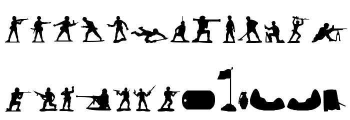 Green Army Men फ़ॉन्ट लोअरकेस