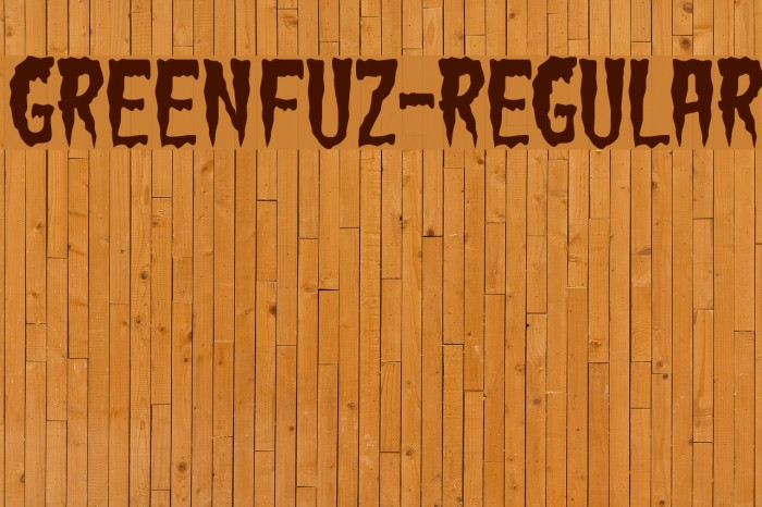GreenFuz-Regular Font examples
