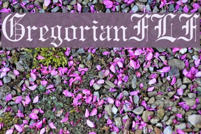 GregorianFLF لخطوط تنزيل examples