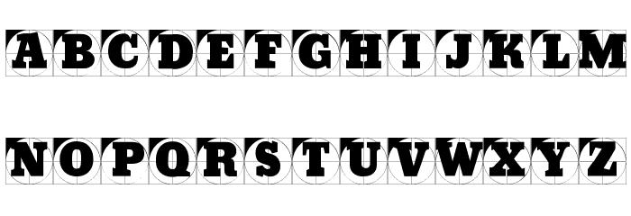 GridConcreteLogoable Font Litere mici