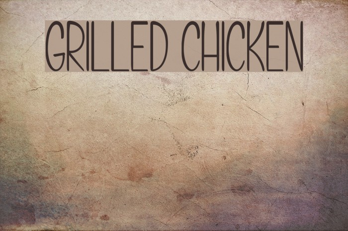 Grilled Chicken Caratteri examples