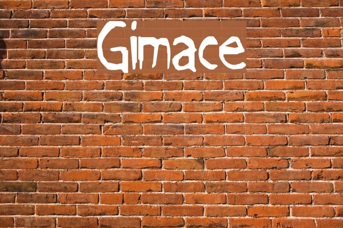 Grimace Font examples