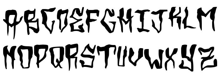 Grimey Шрифта строчной
