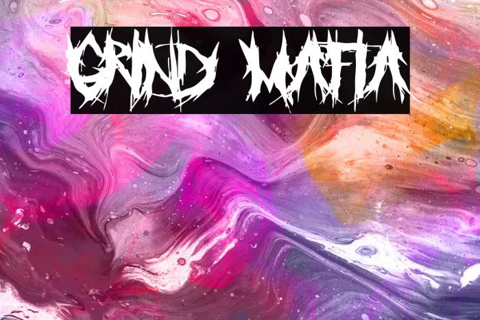 Grind Mafia Font examples