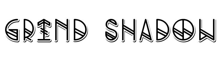 Grind shadow  नि: शुल्क फ़ॉन्ट्स डाउनलोड