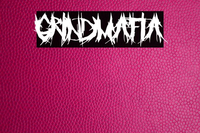 GrindMafia Font examples