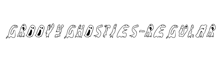 GroovyGhosties-Regular  Free Fonts Download