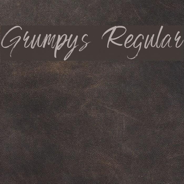 Grumpys Regular Fuentes examples