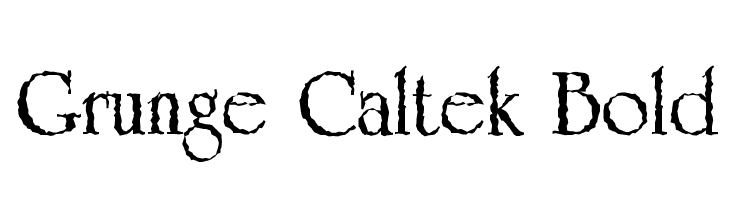 Grunge Caltek Bold  Free Fonts Download