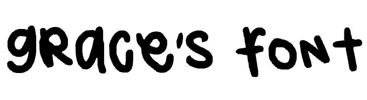 grace's font  Free Fonts Download