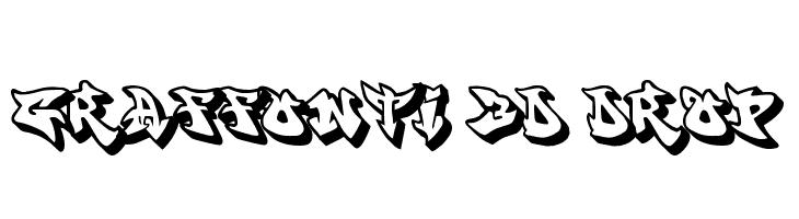 graffonti.3d.drop  baixar fontes gratis