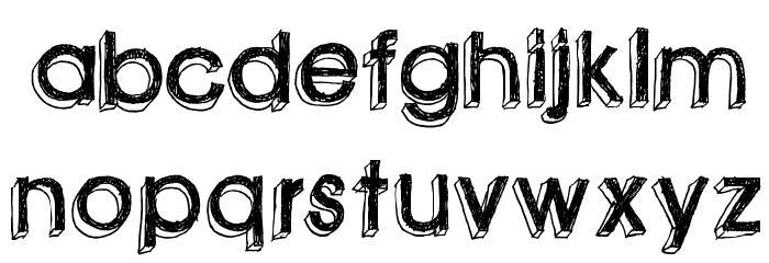 green piloww Font UPPERCASE