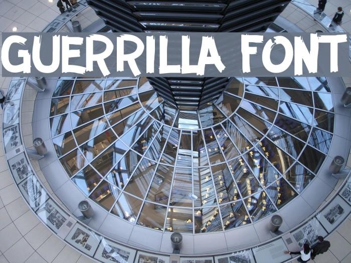 GUERRILLA FONT Caratteri examples