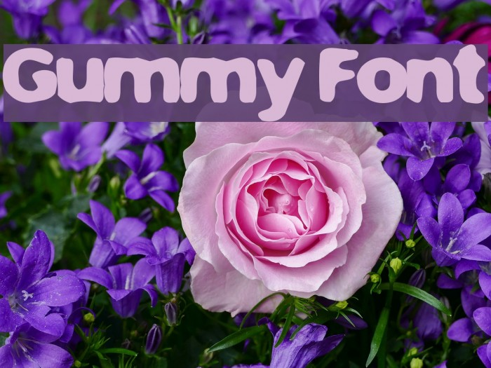 Gummy Font examples