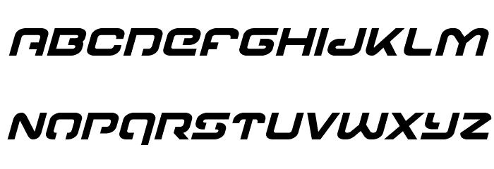 Gunrunner Bold Italic Font LOWERCASE