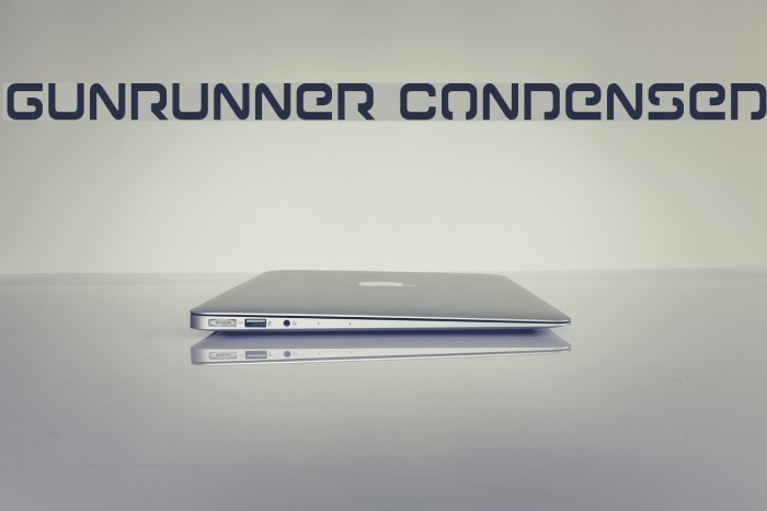 Gunrunner Condensed Fonte examples