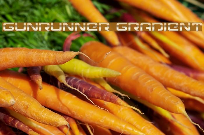 Gunrunner Gradient Font examples