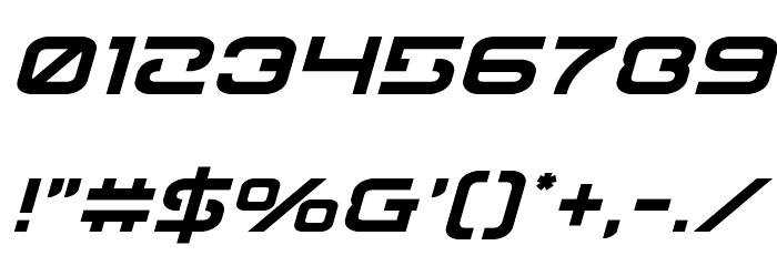 Gunrunner Italic Font OTHER CHARS