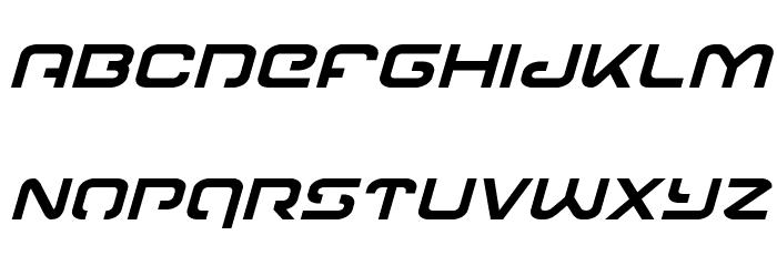 Gunrunner Italic Font LOWERCASE