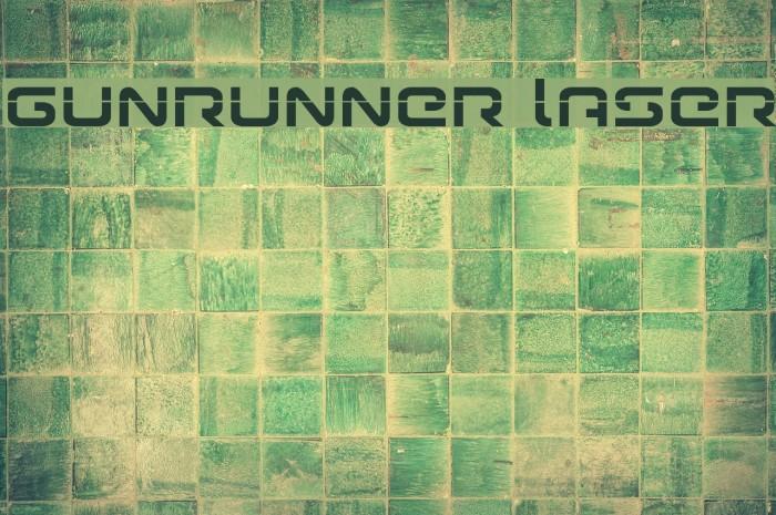 Gunrunner Laser Font examples