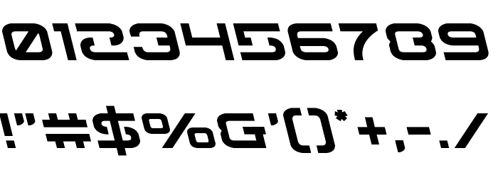 Gunrunner Leftalic Font OTHER CHARS