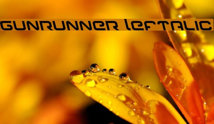 Gunrunner Leftalic Font examples