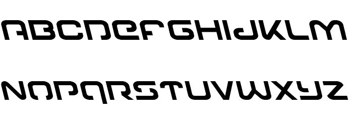 Gunrunner Leftalic Font LOWERCASE