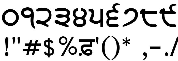 GurbaniLipiLight Bold Шрифта ДРУГИЕ символов