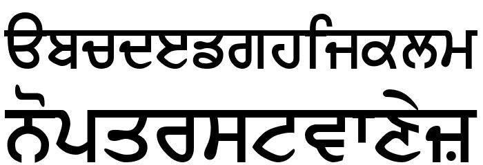 GurbaniLipiLight Bold Шрифта строчной