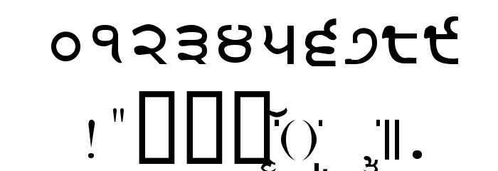 Gurmukhi_IIGS Шрифта ДРУГИЕ символов