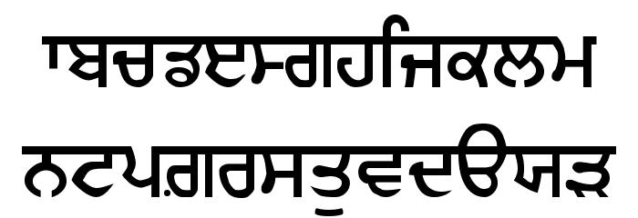 Gurmukhi_IIGS Шрифта строчной