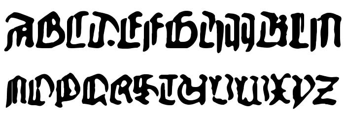 GutenbergsGhostM Font UPPERCASE