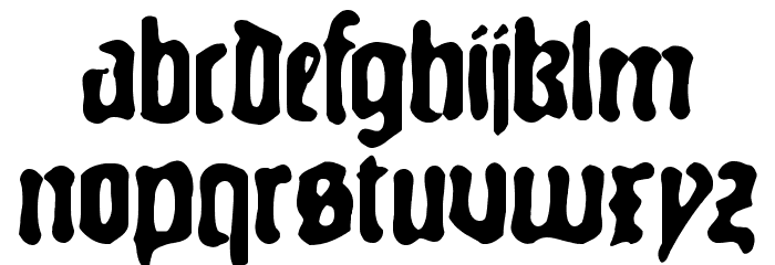 GutenbergsGhostM Font LOWERCASE