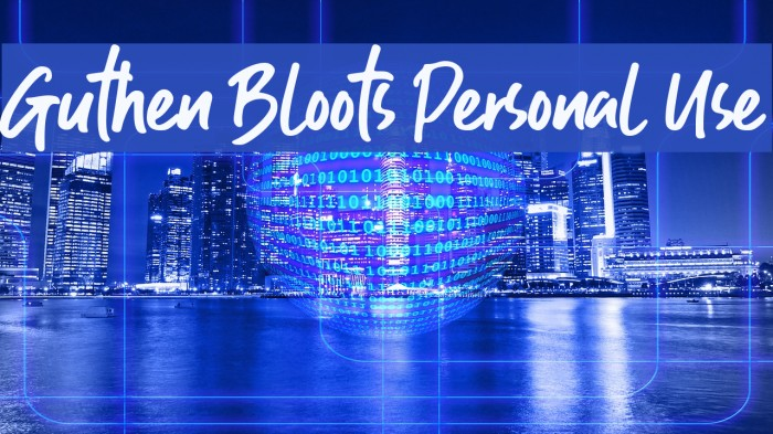 Guthen Bloots Personal Use Font examples