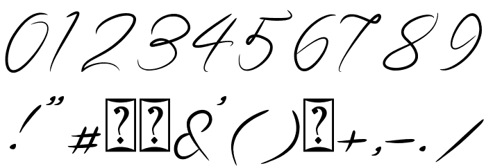 Guttime Font OTHER CHARS