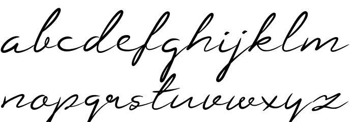 Guttime Font LOWERCASE