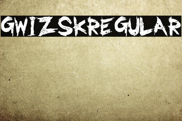 GwizsK-Regular Font examples