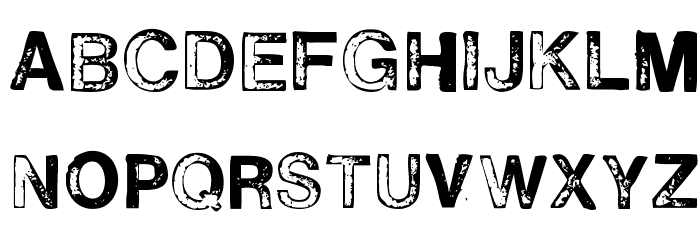H2D2-Alevita Rough फ़ॉन्ट अपरकेस