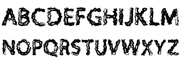 H4 Charcoal Font Regular Polices MAJUSCULES