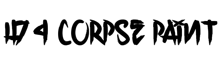 H74 Corpse Paint  Free Fonts Download